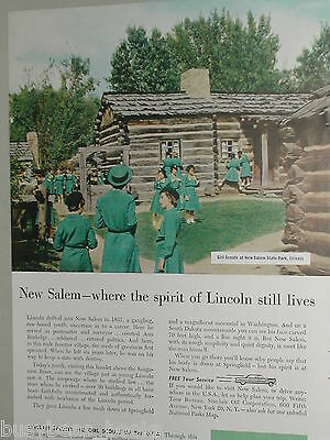 1956 Sinclair Oil Corporation ad, Girl Scouts, Lincoln