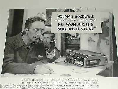 1950 Dictaphone dictating machine ad, Norman Rockwell