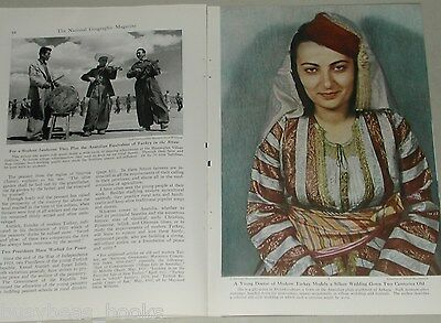 1948 magazine article about Anatolia, Western Turkey people history color photos