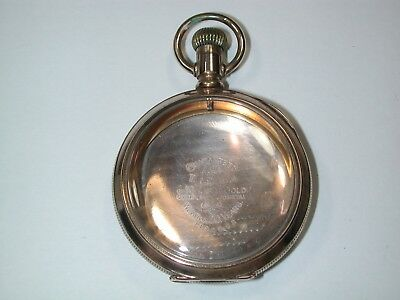 American 18 Size YGF Large Open Face Pocket Watch Case. 151M