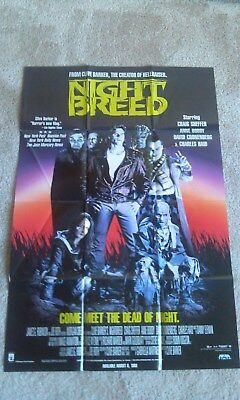 Night Breed 1990 Home Video Movie Poster Horror Clive Barker