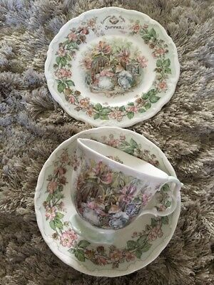 Royal Doulton Brambley Hedge Summer Trio Cup Saucer Plate