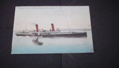Ships/Isle of Man postcard,Empress Queen leaving Liverpool for Douglas,1906.