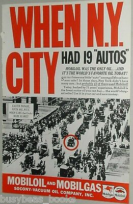 1937 Mobile Oil advertisement, Mobiloil, early NEW YORK CITY traffic jam photo