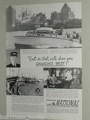 1949 Canadian National Railway ad, CNR, Vancouver