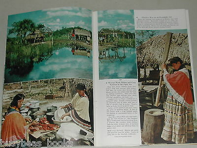1956 magazine article about SEMINOLE Indians, Native Americans, history, color