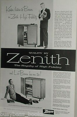 1957 Zenith ad, Hi-Fi set, Jazz, Les Brown, Stan Kenton