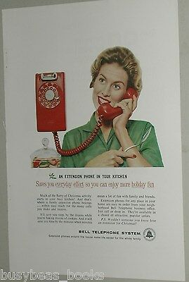 1959 Bell Telephone ad, Housewife, Wall-mount Kitchen