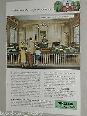1956 Sinclair Oil Corporation ad, Independence Hall PA