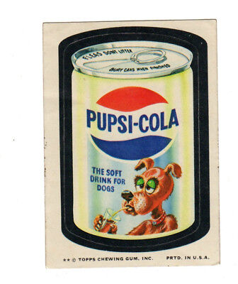 1974 Topps Wacky Packages 10th Series 10 Rare Pulled Title Pupsi Pepsi Cola EX