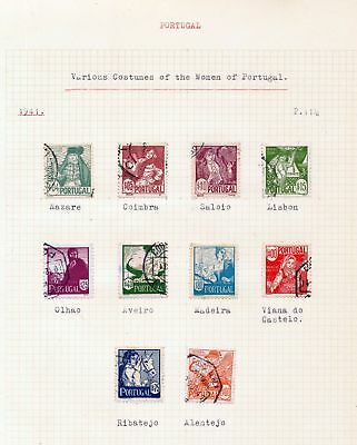 PORTUGAL 1941/44 Costumes Ships Used 40+Stamps DAB 127