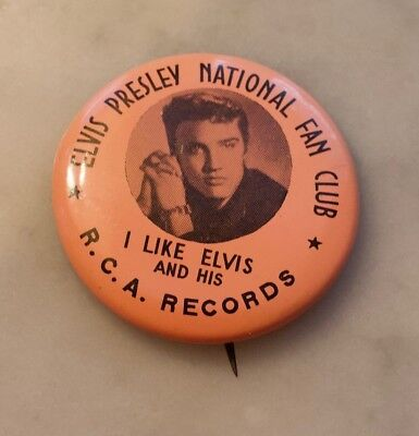 Elvis Presley Fan Club pin.  C-8.  1 1/2 inch diameter
