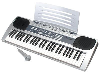 Digital 54-Tasten Fun Keyboard E-Piano Klavier Karaoke Mikrofon Record Funktion