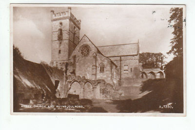 Abbey Church And Ruins Culross Fife 1938 Real Photograph Valentines A7350 Old PC