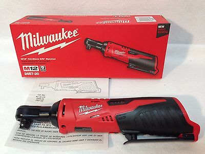 "Milwaukee 2457-20 NEW M12 12V Li-Ion Cordless 3/8"" Rachet -New In Box -Bare Tool"