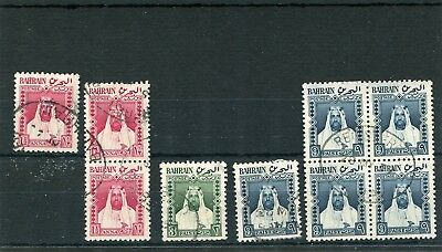 Bahrain.9 -- Used Stamps On Stockcard