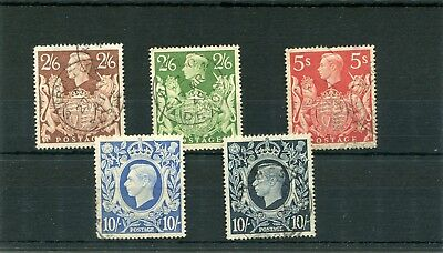 Gb. 5 -- G6 Used 2/6.5/-.10/- Stamps On Stockcard