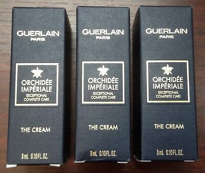 New 3 X 3ml Orchidee Imperiale The Cream Samples By Guerlain