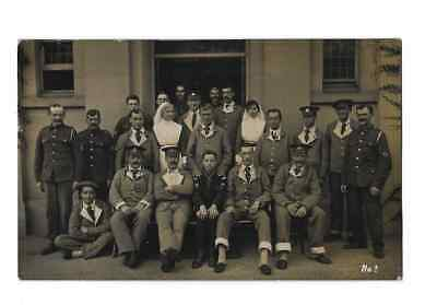 Real Photo Postcard WW1 War Hospital Thornton Heath Photographer Mixed Regiments