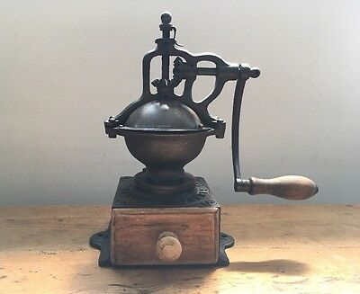Antique Cast Iron French Coffee Grinder mill Peugeot Vintage