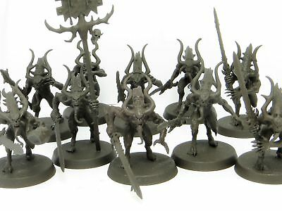 BLOODLETTERS x 10  - Age Of Sigmar Blades Of Khorne Chaos Daemons Warhammer Army
