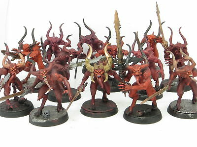 BLOODLETTERS x 13  - Age Of Sigmar Blades Of Khorne Chaos Daemons Warhammer Army