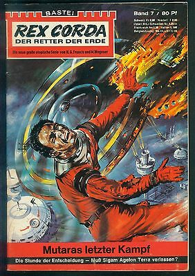 Rex Corda Der Retter der Welt Nr.7 von 1967 - TOP Science Fiction Bastei Roman