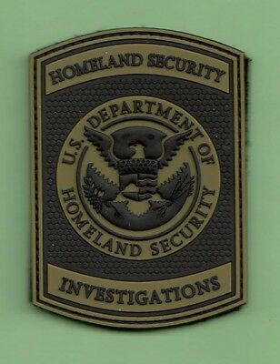 S3 *#2 Pvc Rubber Dhl Hsi Investigations Grn Federal Agent Police Patch Fbi Dea