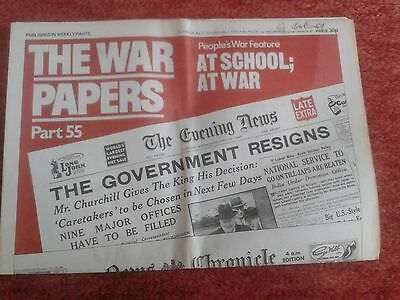 """Vintage Newspaper Reprint """"The War Papers"""" Pt 55 (reprinted paper from WW2) VGC"""
