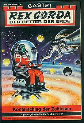 Rex Corda Der Retter der Welt Nr.34 von 1967 - TOP Science Fiction Bastei Roman