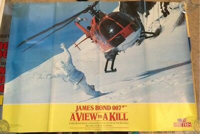 Original James Bond 007 - A View To A Kill Poster - Smiths Crisps Tie In