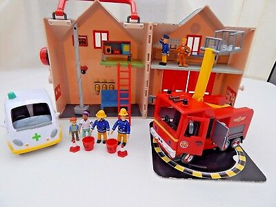 Fireman Sam Deluxe Fire Station With Jupiter, Ambulance, 6 Figures & Accessories