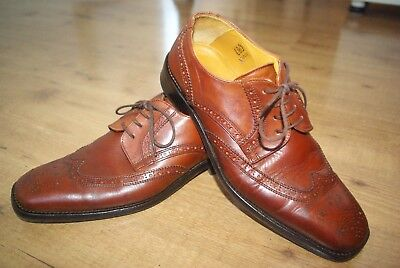 Fabulous Russell & Bromley Tan Brogue Shoes Size UK6/EU39 - Excellent Condition