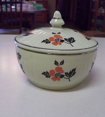 Vintage HALL Red Poppy Radiance Grease Drippings Jar