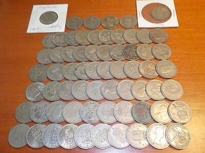 Mixed Lot of Circulated Coins from England    One Shilling