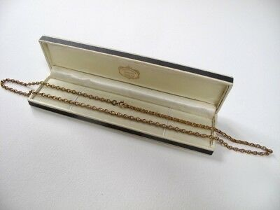 Antique ROLLED GOLD 28 Inches Long Belcher Chain Muff Not Scrap 28.6 grams