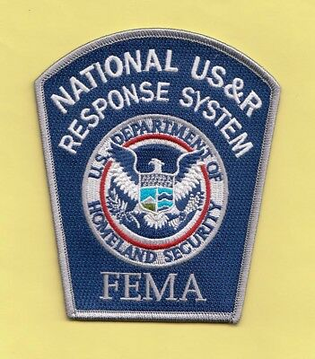 S18 * Dhl Fema National Urban Search Rescue Federal Police Fbi Patch Atf Blue