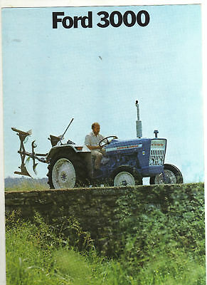 FORD 3000 TRACTOR BROCHURE 70s FARM CLASSIC MODEL DUTCH VERSION