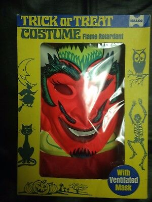 Vintage Rare Halco Devil Halloween Costume W/Box Size Small Great Shape!!!