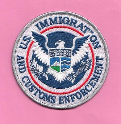 S24 * Seal Us Ice Ins Immigrat Hsi Homeland Federal Agency Ice Fbi Police Patch