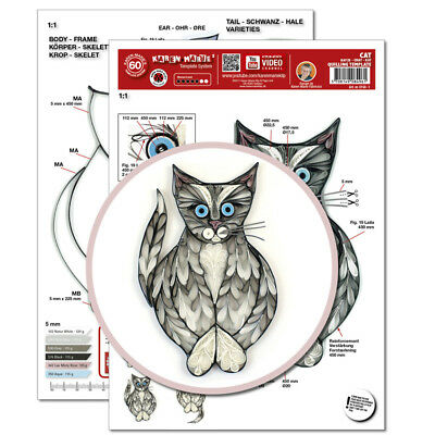 Quilling Template, Cat/ Katze (ohne Pappe)