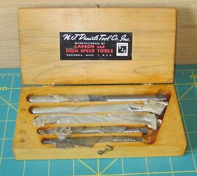 N.J. DANIELS TOOL CO Carbon High-Speed Drill Bits Hand-Reamed Set No.5 Wood Box