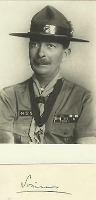 Lord Somers Chief Boy Scout Postcard And Signature On Card After Baden Powell