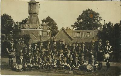 Boy Scouts Outside Wimbledon Windmill Where Baden Powell Wrote  Scouting 4 Boys