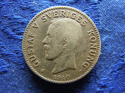 SWEDEN 2 KRONOR 1910, KM787 moved Mm.