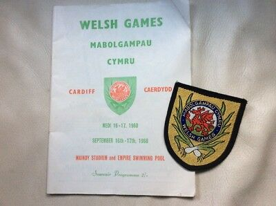 Welsh Games 1960 Programme and Embroidered Badge