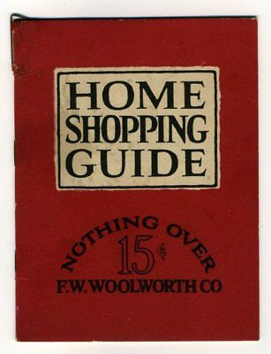 HOME SHOPPING GUIDE NOTHING OVER 15c F.W. Woolworth 1929 Stamped Toronto Store