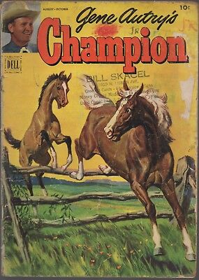 "GENE AUTRY'S CHAMPION #7 (Dell Comics, 1952), ""Ghost of Red Dog,"" wild west"