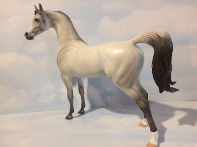 Peter Stone Dapple Gray Arabian, Dah 2014, Excellent Cond & Free Ship! Gorgeous!