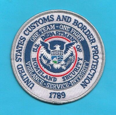 S6 * Uscbp One Team Ice Hsi Homeland Federal Agency Fbi Police Patch Atf Dea
